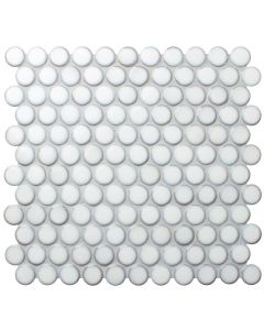 31.4x32.8x2.8 PENNY ROUND LARGE WHITE CLOUD GLOSS tile