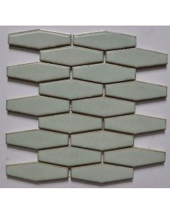 25.3x29 4x12.5 WATER GREEN EXTENDED HEX (FLAT) tile