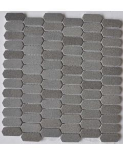 27x28.6 2x4.8x0.6 ARROW CHARCOAL ENAMELED GLASS WITH TEXTURE tile